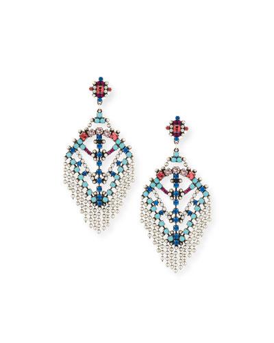 Coraza Bead Fringe Earrings