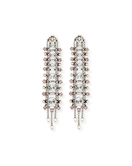 Dannijo Almendra Elongated Crystal Drop Earrings