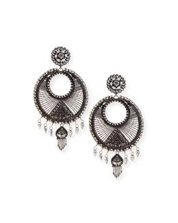 Tricia Medallion Drop Earrings