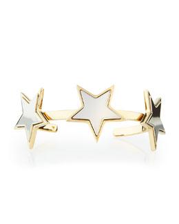 Stars Brass Cuff Bracelet