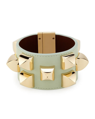 Studded Leather Cuff Bracelet