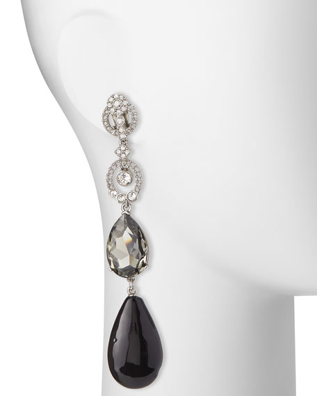 Loop Crystal Drop Earrings
