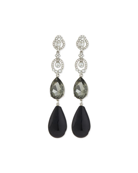 Loop Crystal Drop Earrings