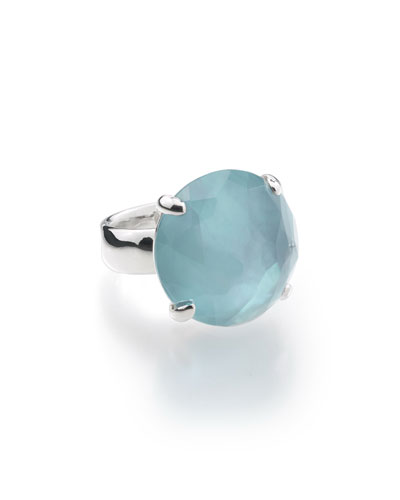 925 Rock Candy Large Round Ring in Denim, Size 7