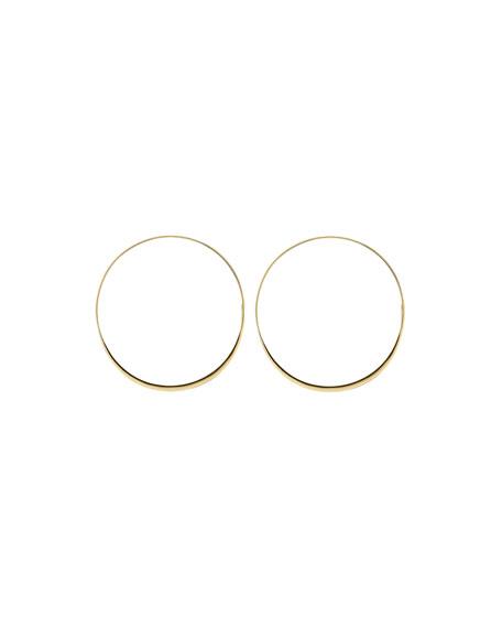 Large 14K Gold Wave Magic Hoop Earrings