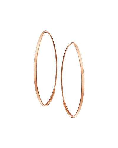Small 14K Flat Oval Magic Hoop Earrings