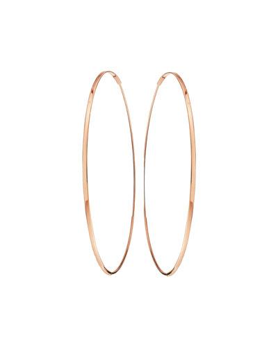 Large 14K Oval Magic Hoop Earrings