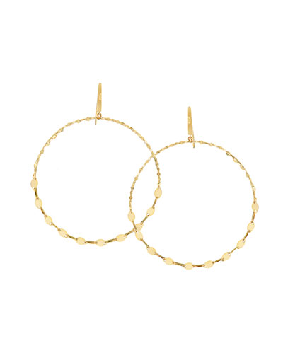 Large Dangling Remix Hoop Earrings