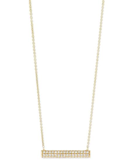 Pavé Diamond Bar Roll Necklace