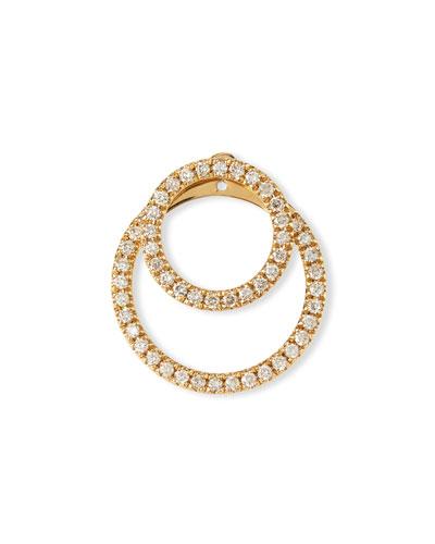 Pavé Diamond Double-Circle Jacket Earrings