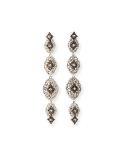 New World Midnight Linear Crivelli Drop Earrings