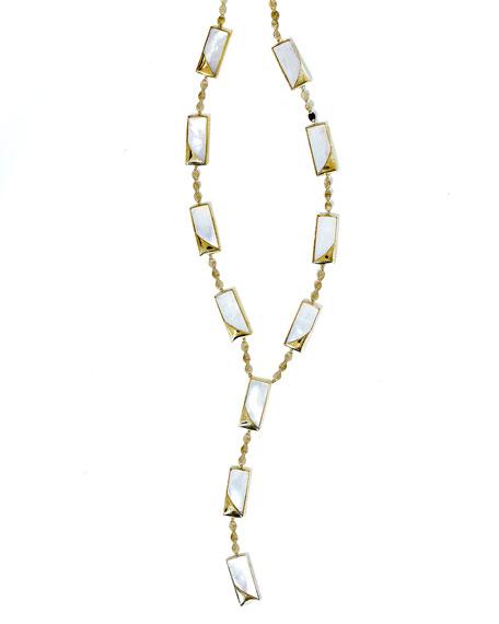 Satin Lariat-Station Necklace