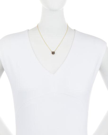Old World Midnight Pavé Diamond Cushion Necklace