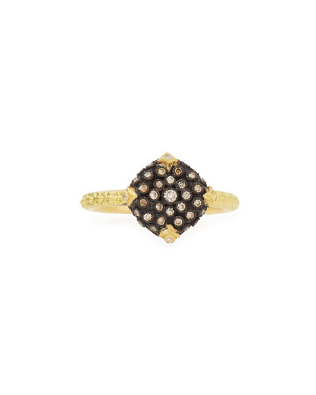 Armenta Old World Pavé Diamond Cushion Ring
