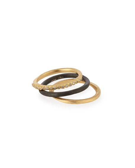 Old World Stacking Rings, Set of Three