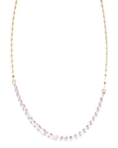 Blush Three-Tone Chain Necklace