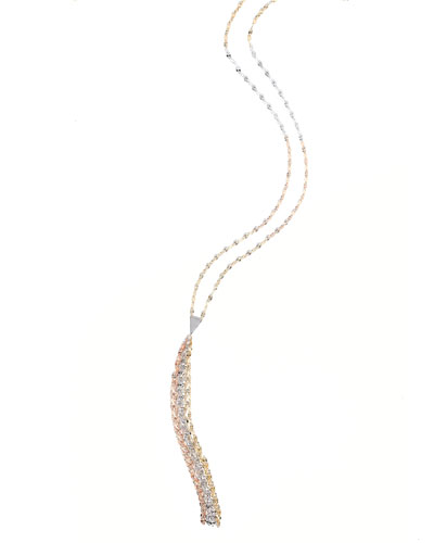 Blake Three-Tone Mega Tassel Chain Necklace
