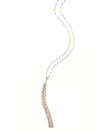 Blake Three-Tone Mega Tassel Chain Necklace