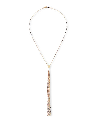 Tri Petite Blake Three-Tone Tassel Necklace