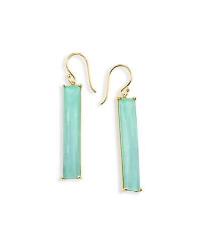 18K Rock Candy Turquoise Doublet Drop Earrings