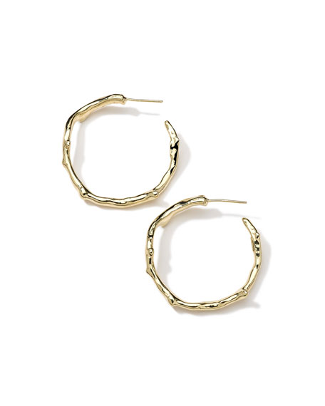 18K Gold Glamazon Reef Hoop Earrings
