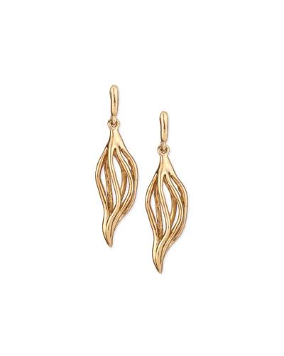 Golden Lily Drop Earrings