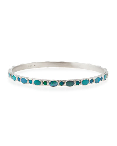New World Boulder Opal Line Bangle