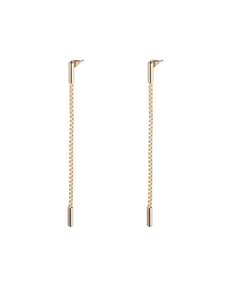 Eddie Borgo Idle Line Chain Drop Earrings