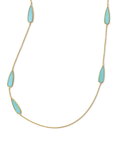 18K Rock Candy Turquoise Station Necklace