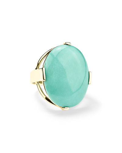 18K Rock Candy Large Turquoise Ring