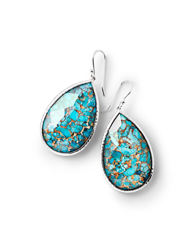 925 Rock Candy Large Turquoise Pear Drop Earrings
