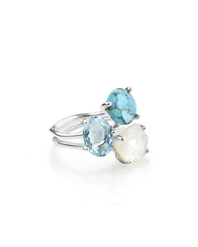 925 Rock Candy Three-Stone Ring in Harmony