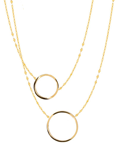 Small 14K Gold Two to Tango Necklace