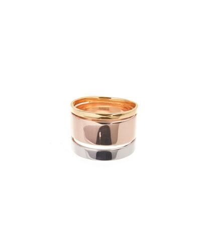 Three-Tone Nude 14K Gold Ring