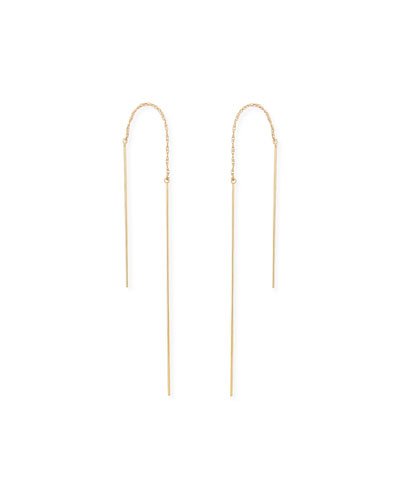 Talin Long Chain Thread-Through Earrings