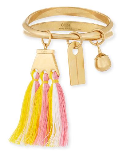 Janis Fringe Bangle Charm Bracelet