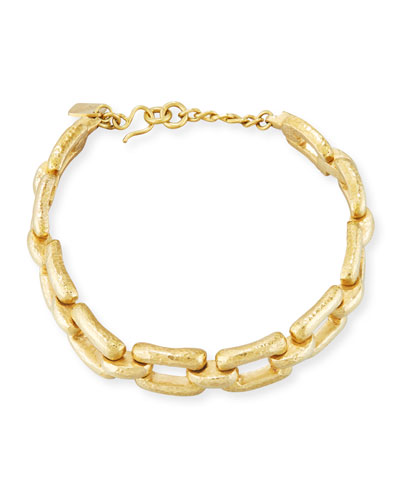 Bila Hammered Bronze Link Choker Necklace