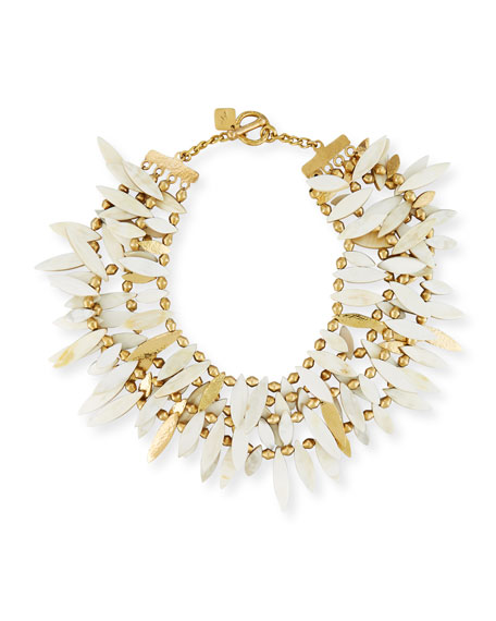Ashley Pittman Thamani Statement Horn & Bronze Beaded