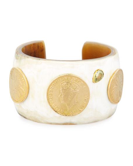 Ashley Pittman Mpenzi Light Horn, Coin & Crystal