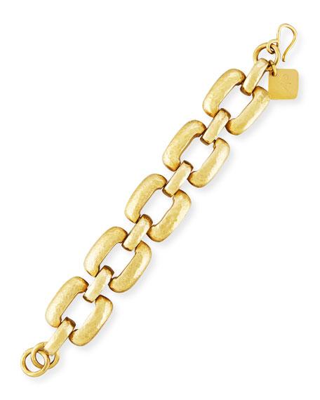 Ashley Pittman Bila Hammered Bronze Square-Link Bracelet