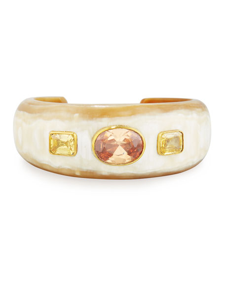 Ashley Pittman Uhuni Light Horn & Crystal Cuff
