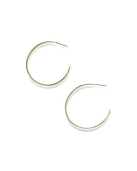 18K Senso&#153 Tapered Hoop Earrings