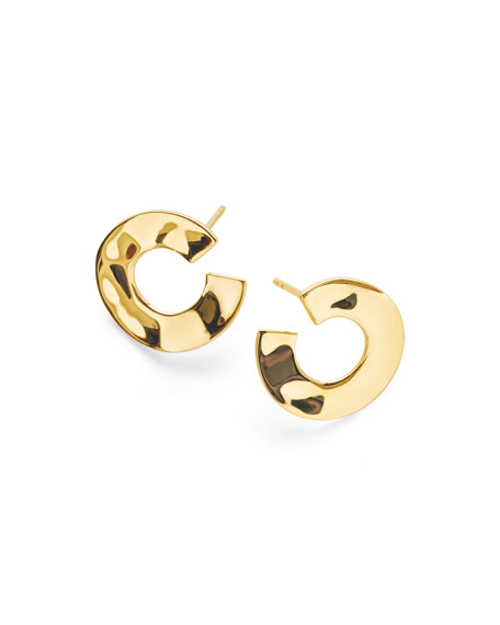 18K Senso&#153 Open Wavy Disc Earrings