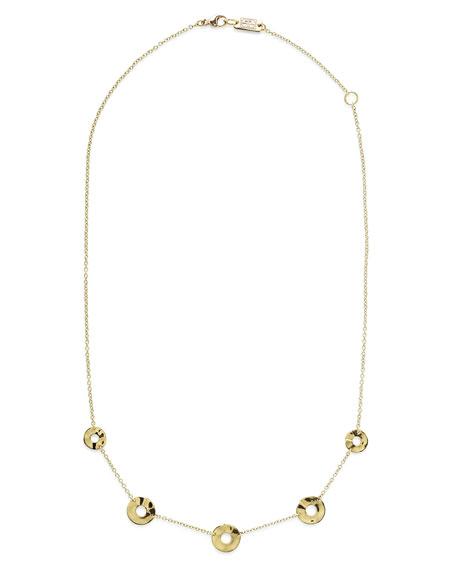"""18K Senso&#153 Disc Five-Station Necklace, 18"""""""