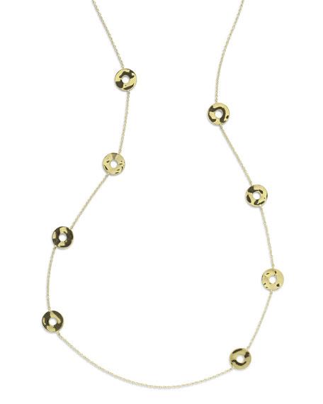 """18K Senso&#153 Disc Station Necklace, 37"""""""