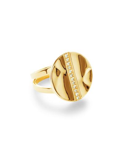 18K Senso&#153 Disc Ring with Diamonds