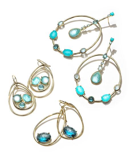 18K Rock Candy Pear-Shaped Wire Earrings in Midnight Rain