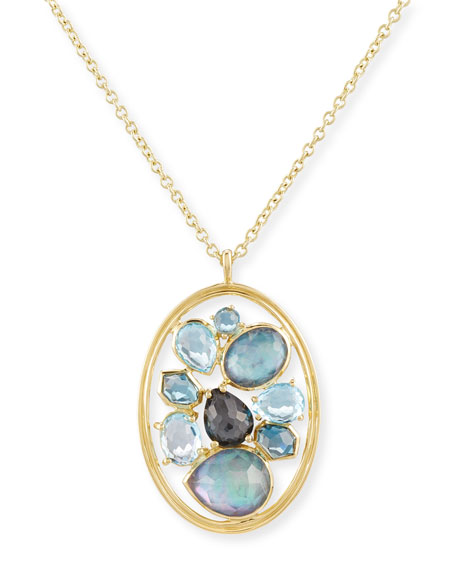 Ippolita 18K Rock Candy Double-Wire Cluster Pendant Necklace