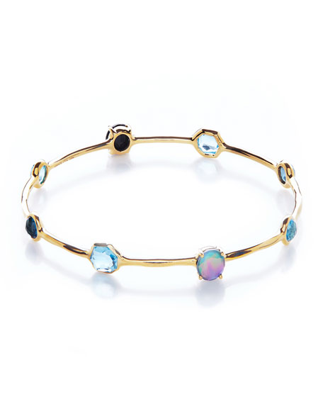 18K Rock Candy 8-Stone Bangle in Midnight Rain