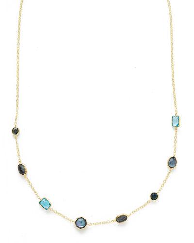 18K Rock Candy Mini Gelato Station Necklace in Midnight Rain, 18